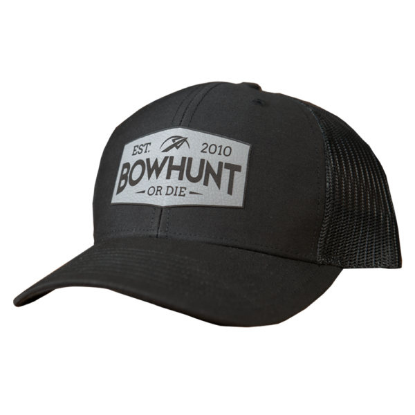 Low Profile Leather Patch Snapback Hat
